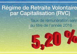 taux de rémunération RVC 2016